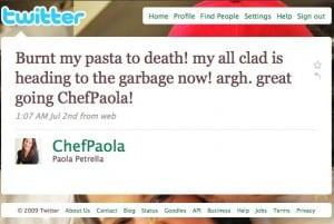 Twitter _ Paola Petrella_ Burnt my pasta to death! m ... - (Build 20090824085414)