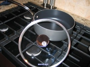 Pretty &amp;amp; practical glass lids top off NEW Mauviel M'Stone non-stick cookware