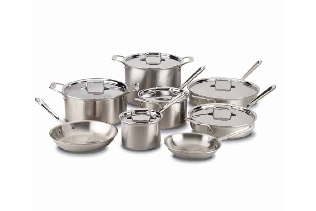 All-Clad Tri-Ply Stainless Steel vs. D5 Brushed Stainless Cookware