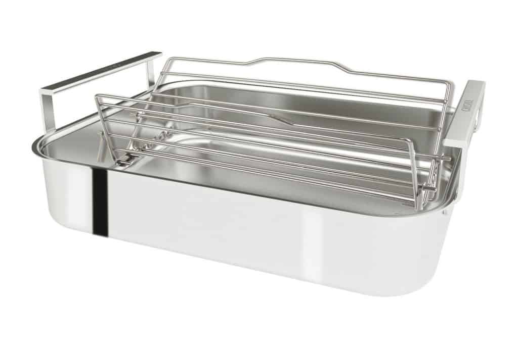 Save clean up time with new Cristel Stainless Steel Roasting Pan