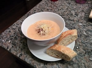 Our delicious potato soup.