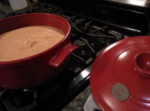 Emile Henry Flame Top 5 1/2 qt. Ceramic Dutch Oven - Rouge