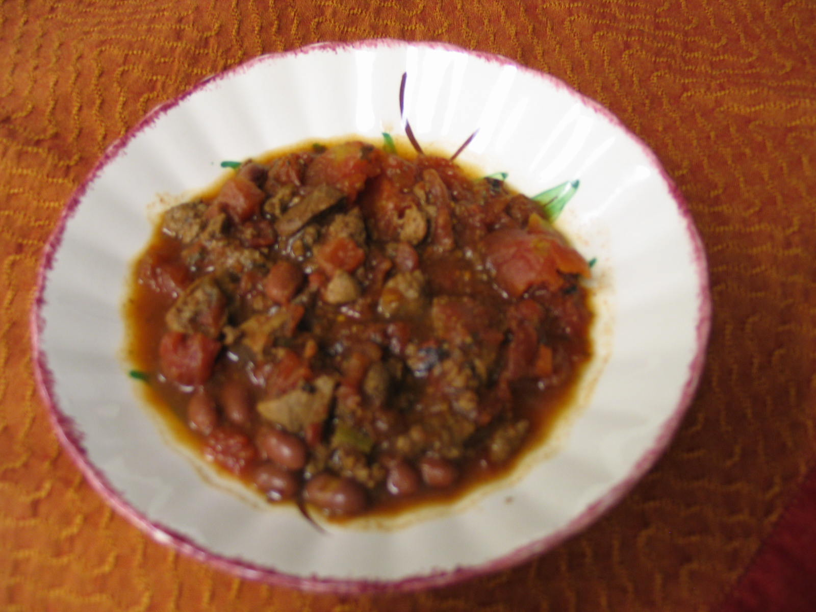 Antelope Chili in an All-Clad Slow Cooker