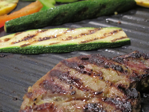 Grilled Steak and Zucchini